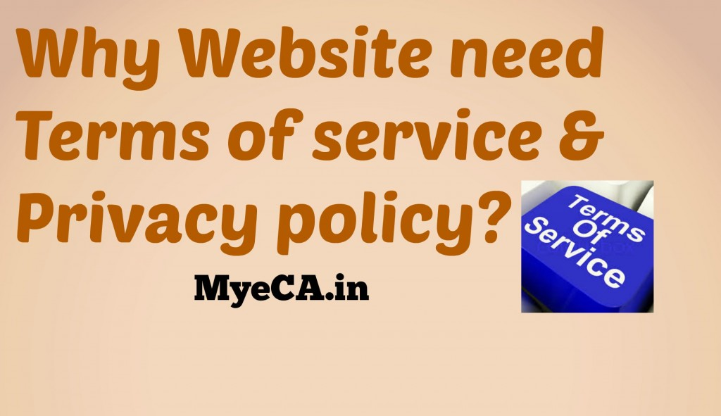 Why Website need Terms of service & Privacy policy?